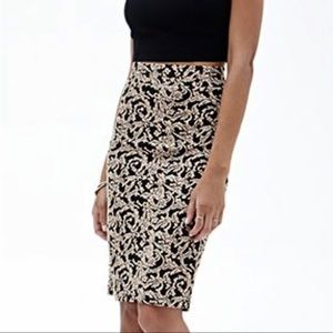🖤🌟HP🌟🖤 Mauve Floral Embossed Midi Pencil Skirt